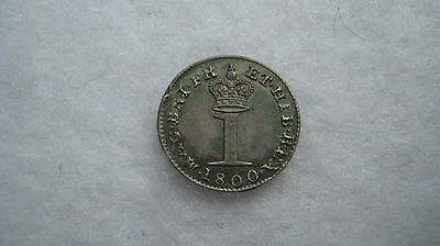 1800 George III silver maundy penny High grade. (H125)