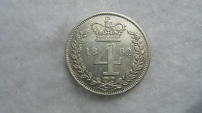 1864 Queen Victoria silver maundy fourpence. (H129)