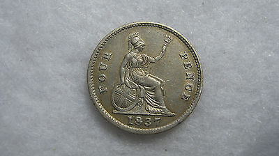 1837 William III silver fourpence. (H131)