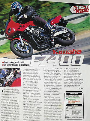 Yamaha Fz400 # First Ride Report # Motorcycle Article # 1 Page
