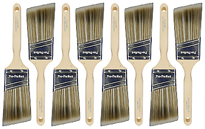 "8 PACK 2-1/2"" Angle Sash PRO PERFECT PAINT BRUSH LOT.."