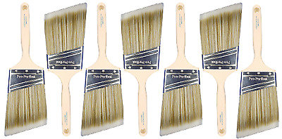 "7pk 3"" Angle Sash PRO-PERFECT PAINT BRUSH LOT"