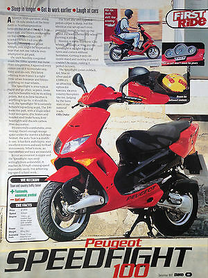 Peugeot Speedfight 100 # First Ride Report # Motorcycle Article # 1 Page