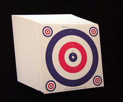 100 x 14cm Top Quality Air Rifle Pistol Shooting 2 Colour Paper Targets