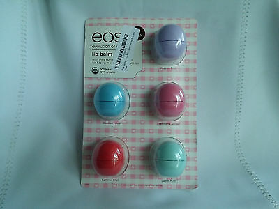 eos Lip Balm Sphere 5 Pack passion fruit strawberry blueberry summer mint