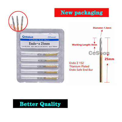 5Pcs Dental Endo Z Burs 152 Tungsten Carbide Burs 25mm FG Carbide Zekrya Burr