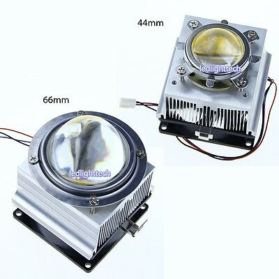 Aluminium Heatsink cooling Fan 44mm 66mm lens for 20-100W high power led chip