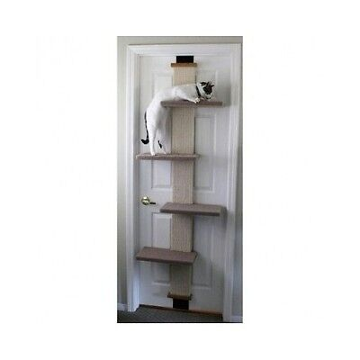 Cat Scratching Post Tree Sisal Tall Climber Tower Door Scratch Modern Wall New