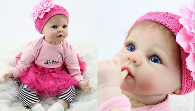 "22"" Handmade Reborn Baby Doll Soft Silicone Lifelike Doll Gift For Child Gift"