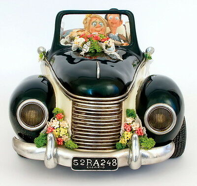 """GUILLERMO FORCHINO - Comic Art Skulptur - """"JUST MARRIED"""" - numm. Edition FO85055"""