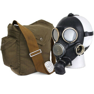 Soviet russian army gas mask GP-7V. Black. Russian military black mask