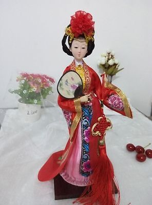 "Ancient Chinese Queen Tang Dynasty Four Beauties ""YangGuiFei"" Doll Statue"