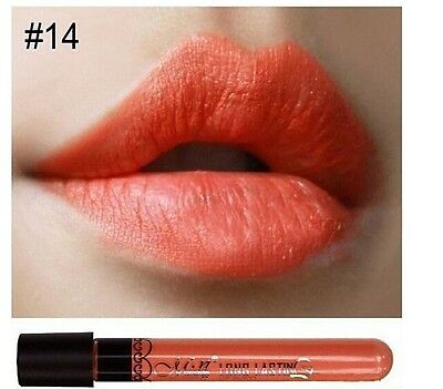 Gloss Orange nature brillant, rouge a lèvre Menow longue tenue Waterproof N14