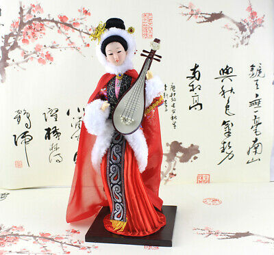 "Ancient Chinese Four Beauties Wang ZhaoJun Imitation ""playing pipa"" 33cm 12''"