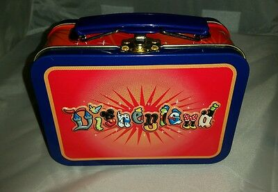 """Disneyland Small metal Conainer Lunch Box with Handle 6""""x 4"""" New Old Stock"""