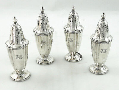 Tiffany Sterling Salt And Peppers Set 4