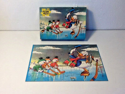 Vtg 60's Walt Disney Character Jaymar Puzzle Donald Duck, Complete with Box!