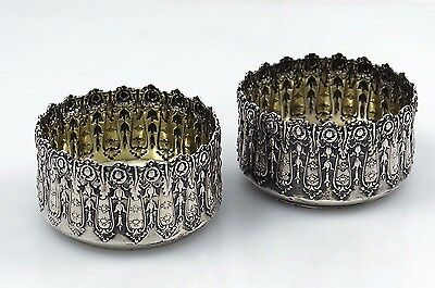 Pair of Dominick & Haff Sterling ORNATE OPEN SALTS