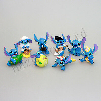 "8pcs Lilo & Stitch Small Toy Collection Figure 2"" ""Elvis"" Figures New*"