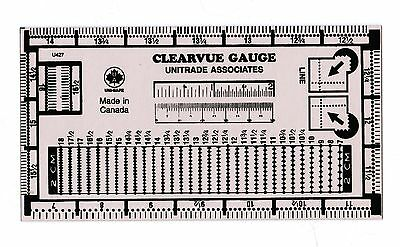 Clearvue Stamp Perforation Perf Gauge Unitrade Uni-Safe