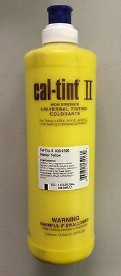 CAL-TINT II INTERIOR YELLOW Universal Tinting Colorant #830-2506