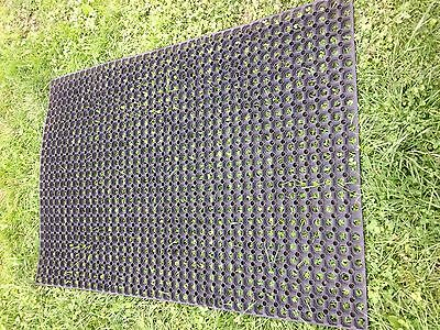 3 x Rubber GRASS MAT playground cow course mats horse golf Rubber Matting