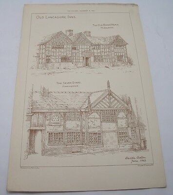 OLD LANCASHIRE INNS MIDDLETON MANCHESTER Victorian Antique Pub Architecture 1883