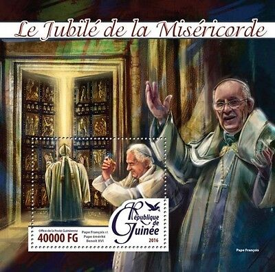 Z08 Imperforated GU16212b GUINEA 2016 Popes MNH