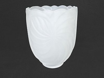"2-1/4"" Fitter Retro Frosted Art Deco Glass Lighting Shade Wall Sconce Fan Vanity"