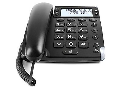 Doro Magna 4000 Amplified Corded Telephone - Black