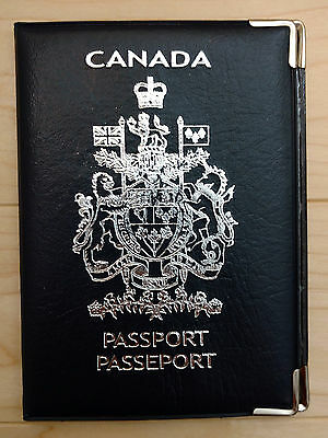 Canadian Canada Leatherette Passport Cover Holder Protector Sleeve