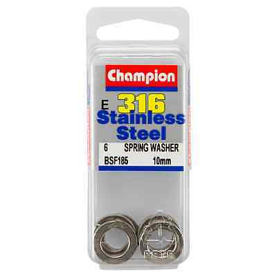 Champion 10mm E316 Stainless Steel Spring Washer BSF185 – 6Pc