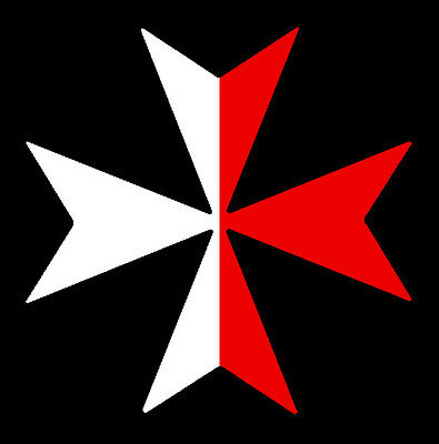 1 X MALTESE CROSS DECAL  Size apr 100 mm by 100 mm