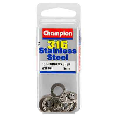 Champion 8mm E316 Stainless Steel Spring Washer BSF184 – 10Pc