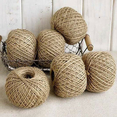 Hot Sale 30m Natural Sisal 2mm Rustic Tags Wrap Decoration Crafts Twisted Rope