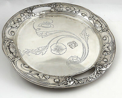 Gorham ATHENIC Sterling Tray Art Nouveau 40 troy ounces