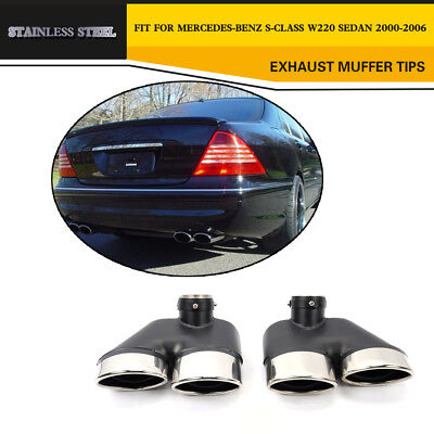 Stainless Steel Rear Exhaust Tips Tailpipe Ends  for Mercedes Benz W220 S Class