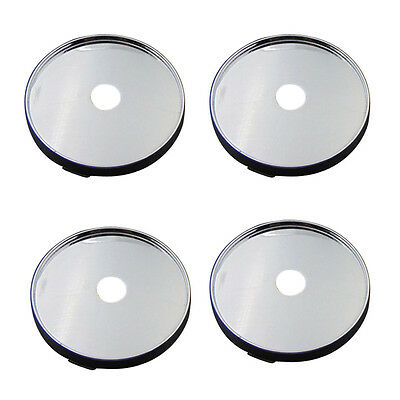 4*Car Auto Wheel Center Universal 60mm Tyre Trims Hub Cap Chrome Plastic Sticker
