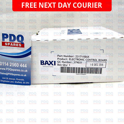 Baxi 3 PFL 60 & 70 System Electronic Control PCB 231711BAX 231711 - BRAND NEW
