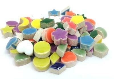 Mini Ceramic Mosaic Shape Tiles - Multi Mix