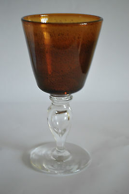 Large Hand made Glass goblet or Chalice        #121