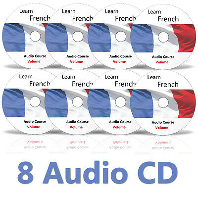 Learn to speak FRENCH - Complete Language Training Course on 8 AUDIO CDs no DVD