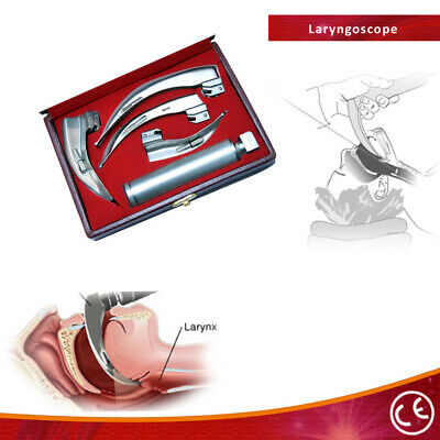 Bdeals EMT Laryngoscope Mac Kit Anesthesia with 4 Blade and Beautiful Box Good