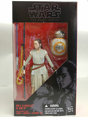 Star Wars The Force Awakens Black Series 6 Inch Rey and BB-8 with LIGHTSABER NEW