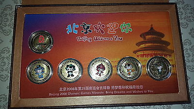 NEW Olympics - Beijing 2008 Mascot Coins in Presentation Box Medallions