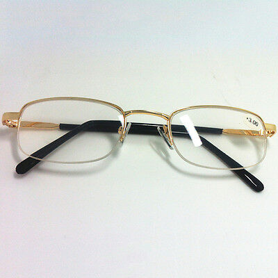 New Metal Half Frame Hanging Wire Resin Reading Glasses Anti-Fatigue 1.0 To 4.0