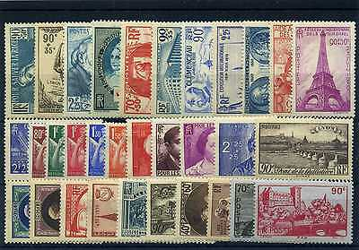 France Annee Complete 1939 Neuf * Avec Charniere Cote 157€