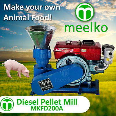 Pellet Mill 15Hp Diesel Engine Pellet In Stocked Usa (6Mm Pork)
