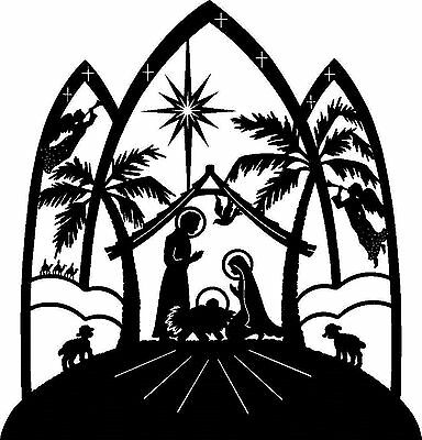 Silhouette Cross Stitch Chart - Nativity