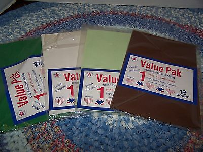 Large Lot of  Aida Cloth Many Colors & Counts Wood Crosses For Inserts